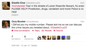 Cory Booker Twitter Conversation